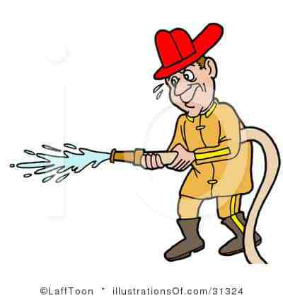 Fireman clipart. Royalty free illustration the