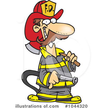 Fireman clipart. Illustration by toonaday royaltyfree