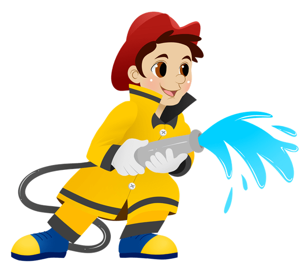 Cartoons cartoonview co cartoon. Fireman clipart animated