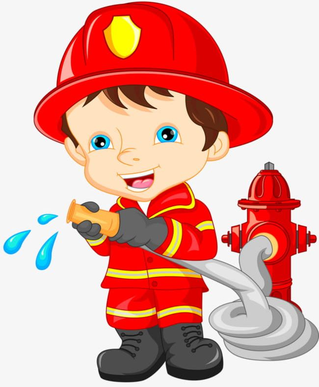 Cartoon png . Fireman clipart animated