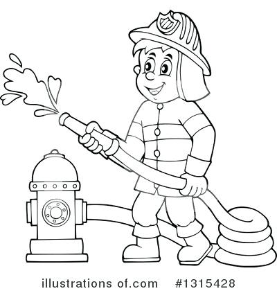 Fireman clipart black and white. Free artsoznanie com
