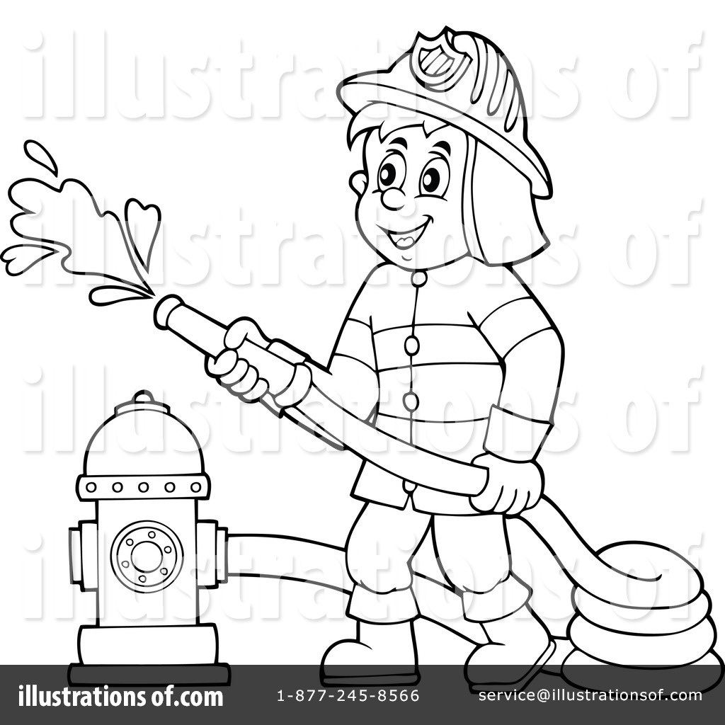 Letters example within . Fireman clipart black and white