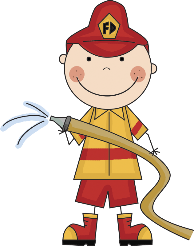 Fireman clipart cute. Firefighter ourclipart pin