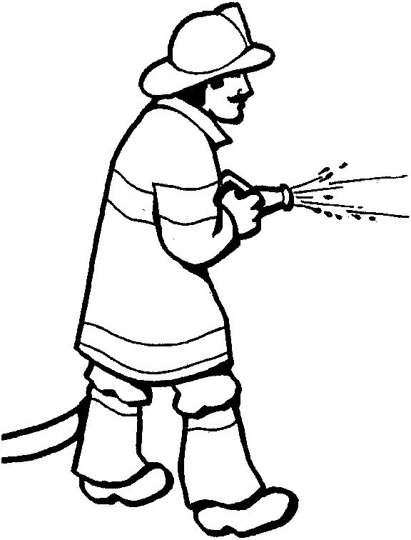 Firefighter drawing at getdrawings. Fireman clipart draw