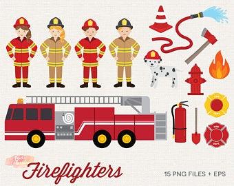 Firefighter etsy . Fireman clipart emergency service
