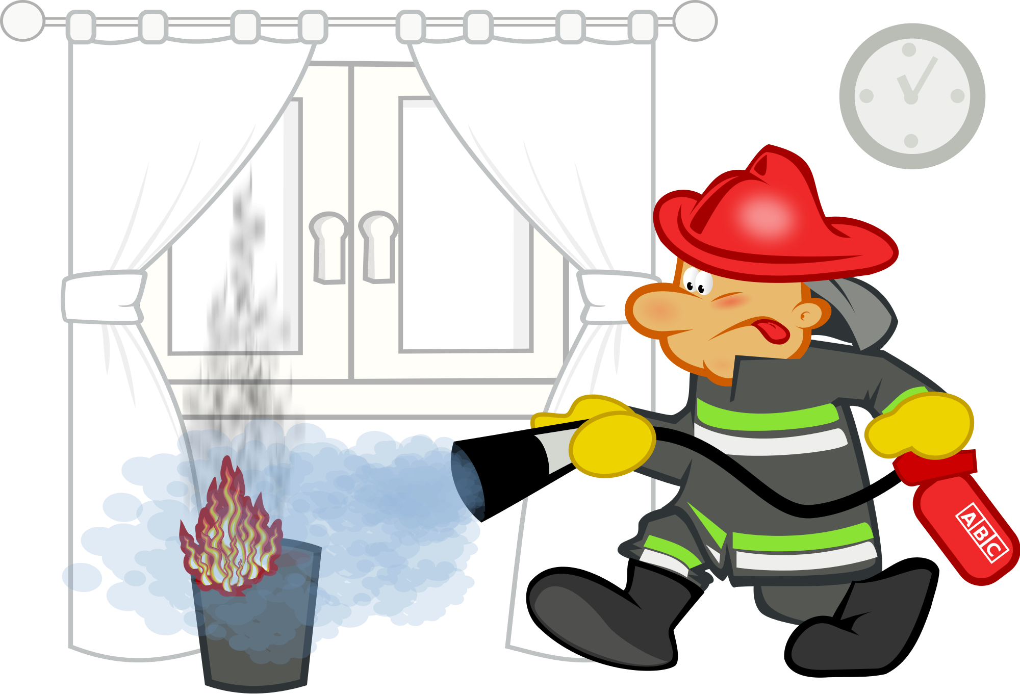 Fireman clipart extinguisher. File by mimooh svg