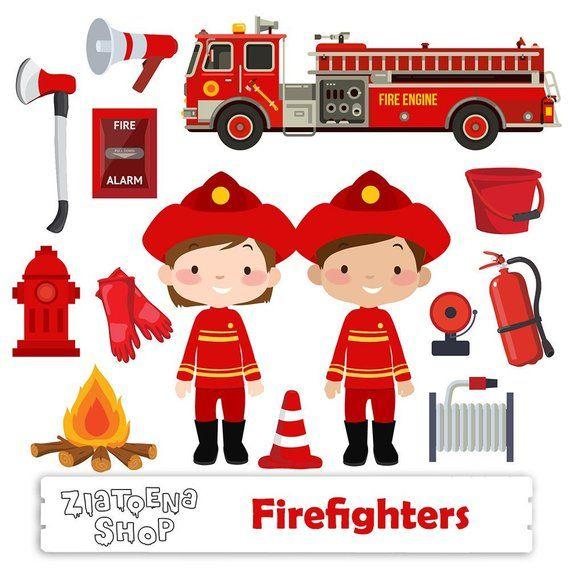 Firetruck clipart fire station. Little firefighter clip art