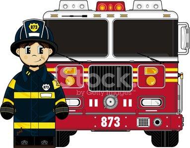 Cute with premium clipartlogo. Fireman clipart fire engine