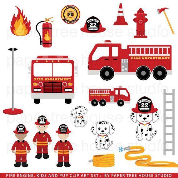 Fireman clipart fire engine. Truck clip art firefighters