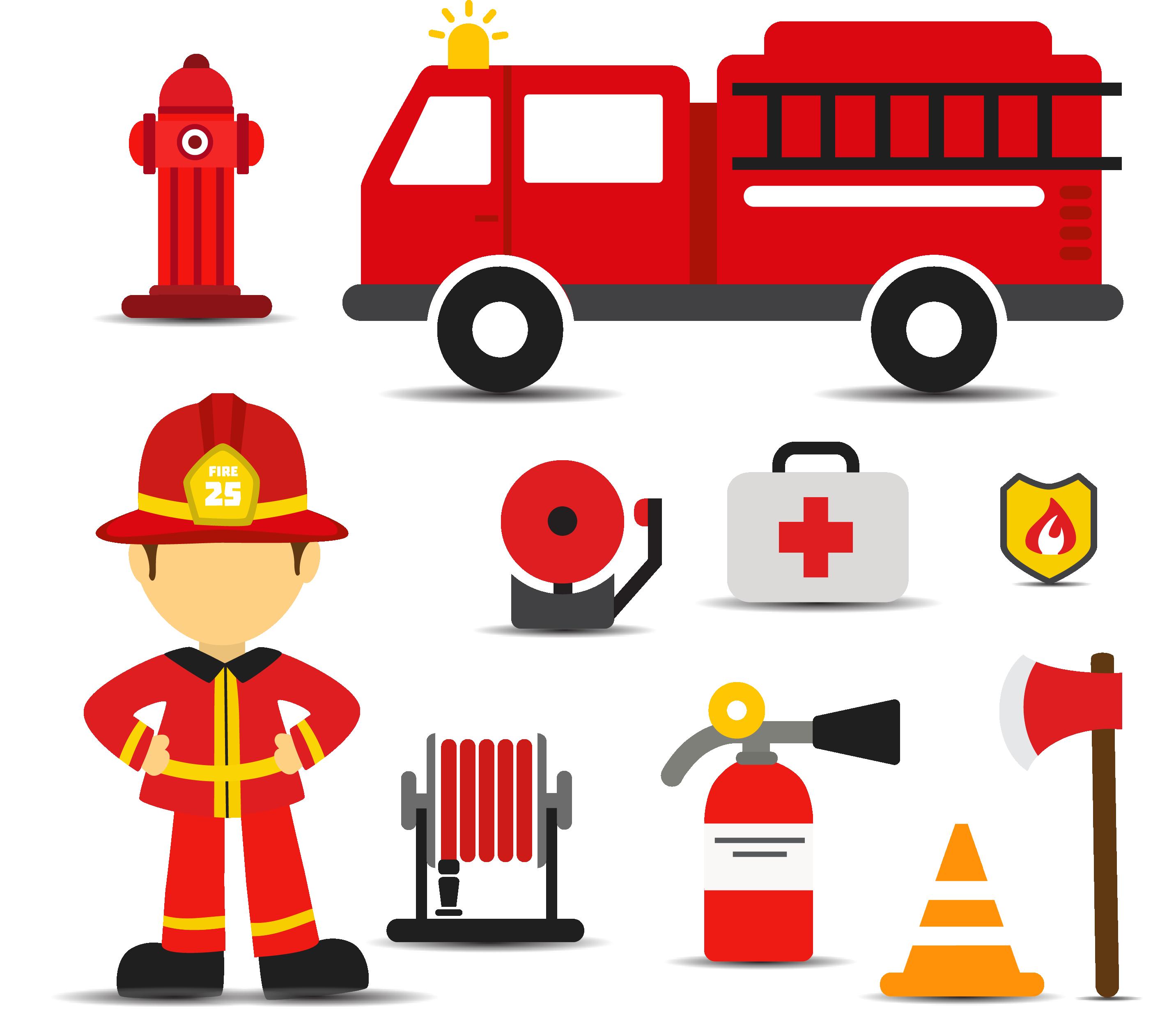 Fireman clipart fire engine. Firefighter euclidean vector s