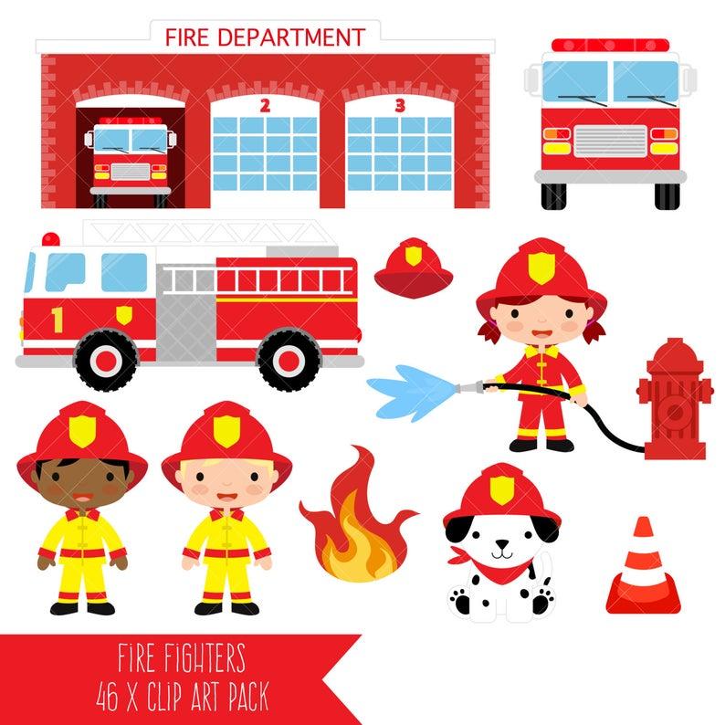 Fireman clipart fire engine. Firefighter fighter truck