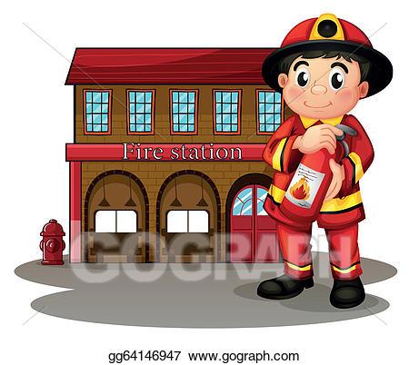 Vector stock illustration of. Fireman clipart fire service