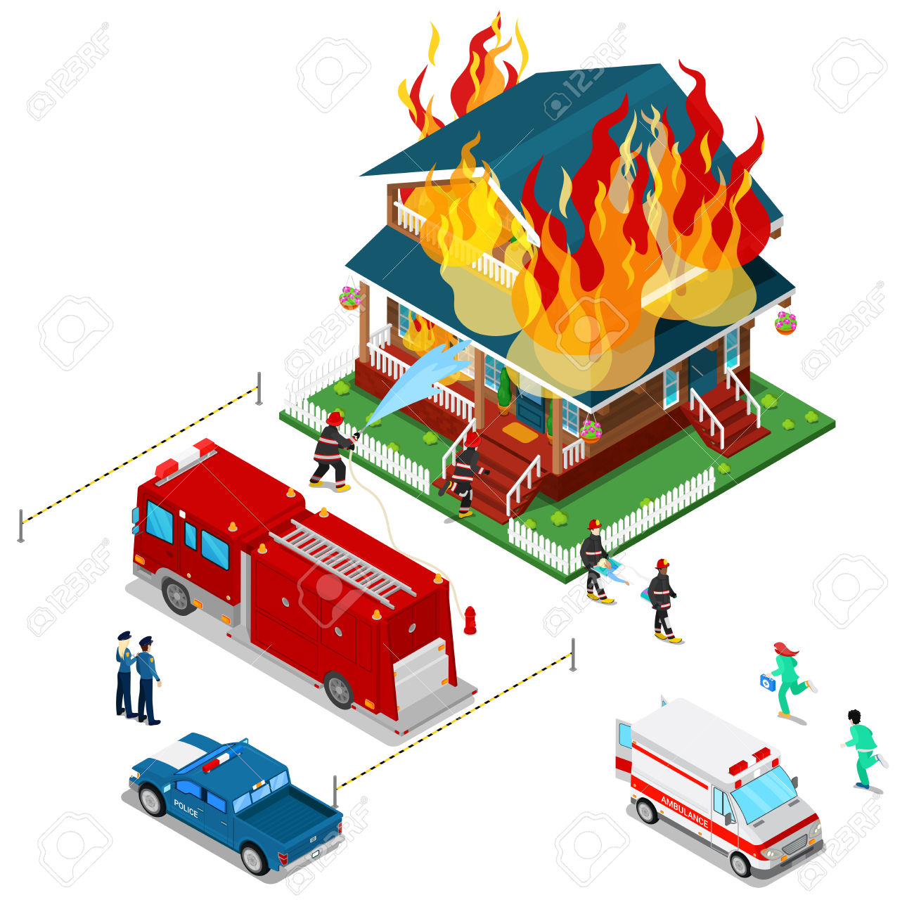 Fireman clipart home fire. House free download best