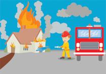 Free emergency clip art. Fireman clipart home fire