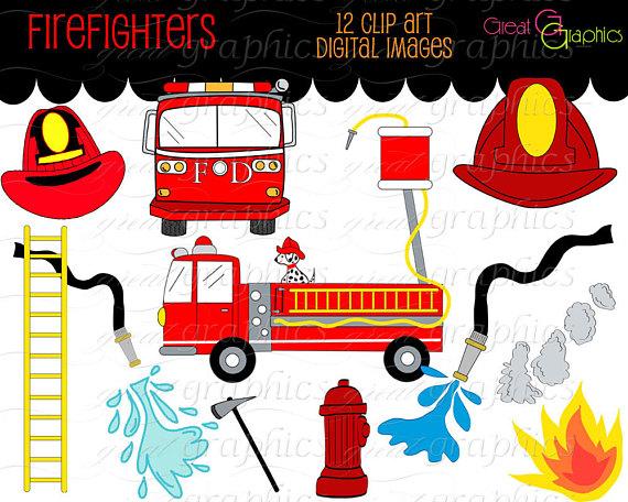 Fireman clipart items. Firefighter clip art fire