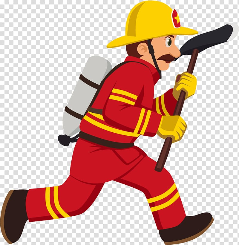 Fireman clipart male firefighter. Illustration cartoon
