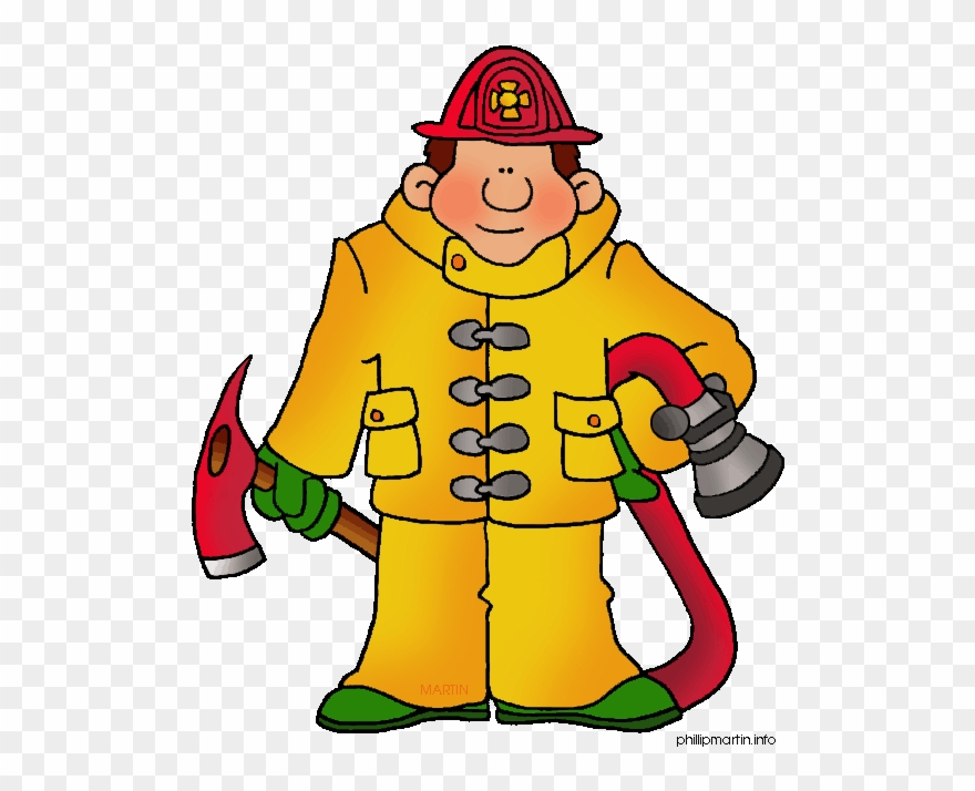 Stock fire fighter clip. Fireman clipart month