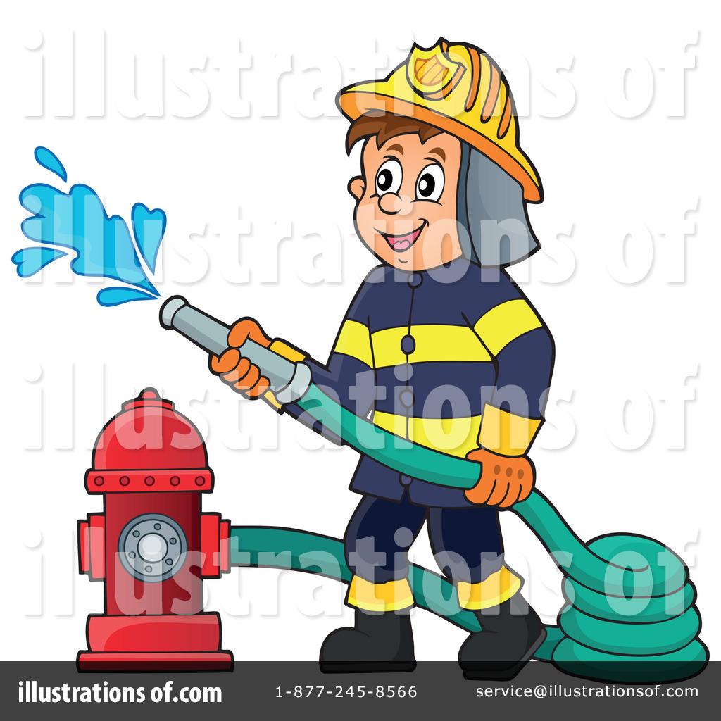 Fireman clipart ocupation. Illustration by visekart