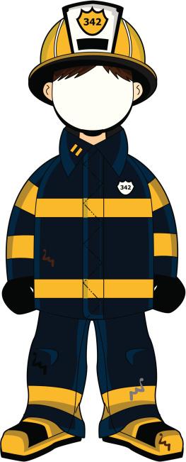 Fireman clipart officer. Silhouette free clip art