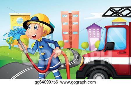 Fireman clipart public servant. Vector stock a with