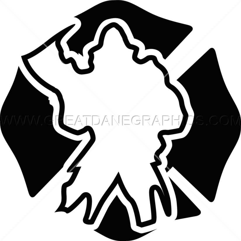 Fireman clipart shield. Axe production ready artwork