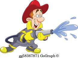 Clip art royalty free. Fireman clipart spray hose