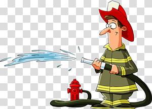 Fireman clipart spray hose. Firemen transparent background png