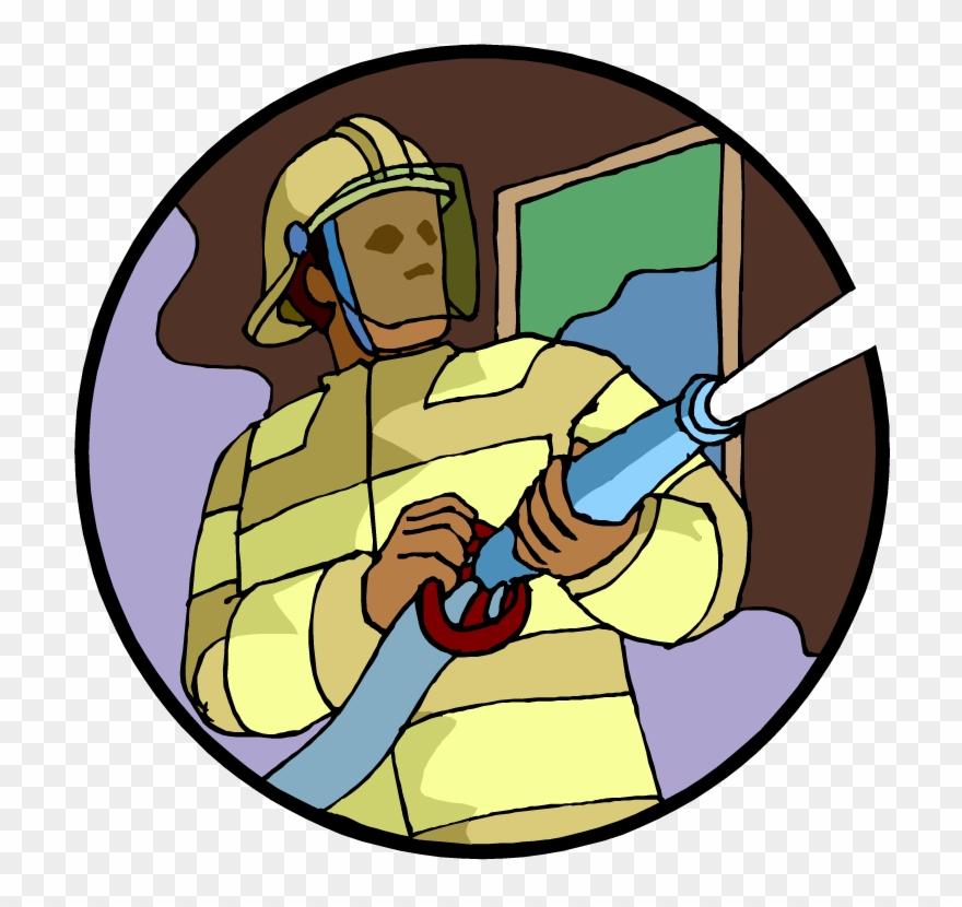 Fireman clipart spray hose. Firefighter png download