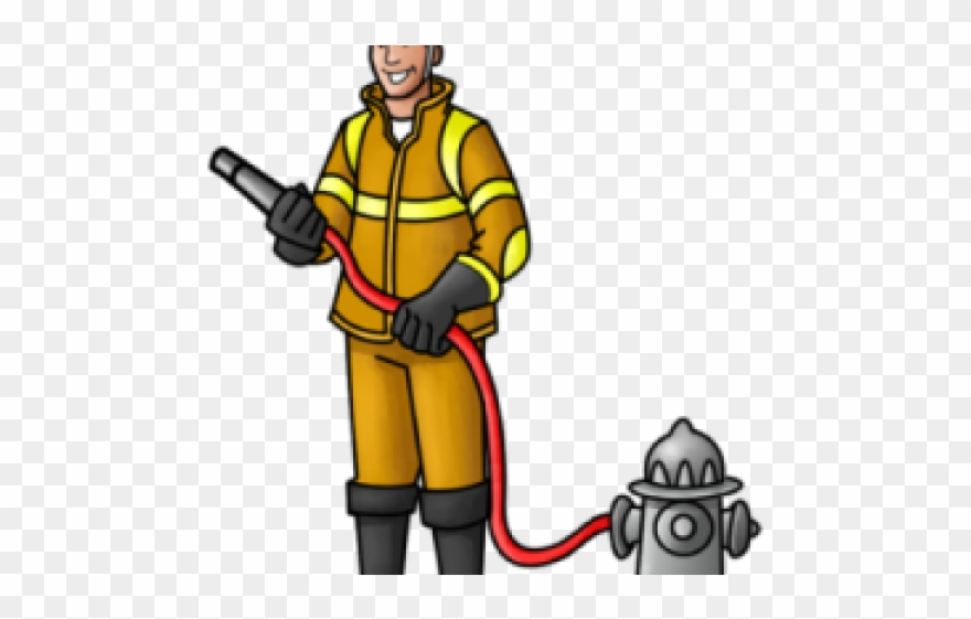 Fireman clipart transparent. Pinclipart