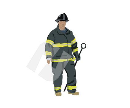 Clip art poweredtemplate com. Fireman clipart vector