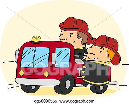 Fireman clipart work clipart. Stock illustration gg gograph