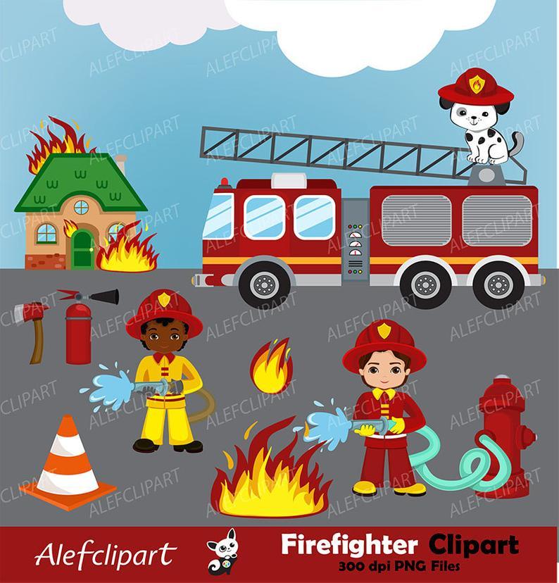 Firefighter digital boys clip. Fireman clipart work clipart