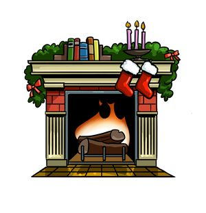 Christmas at getdrawings com. Fireplace clipart