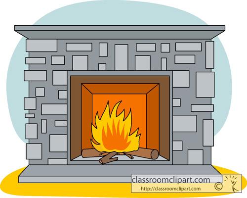 Clipartix . Fireplace clipart