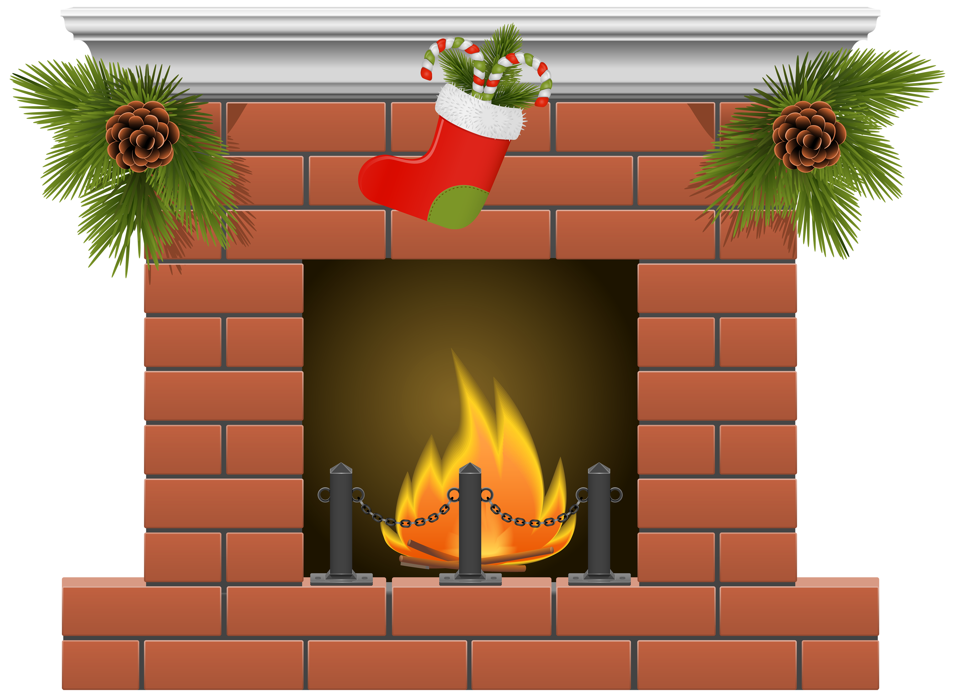 Christmas png best web. Fireplace clipart