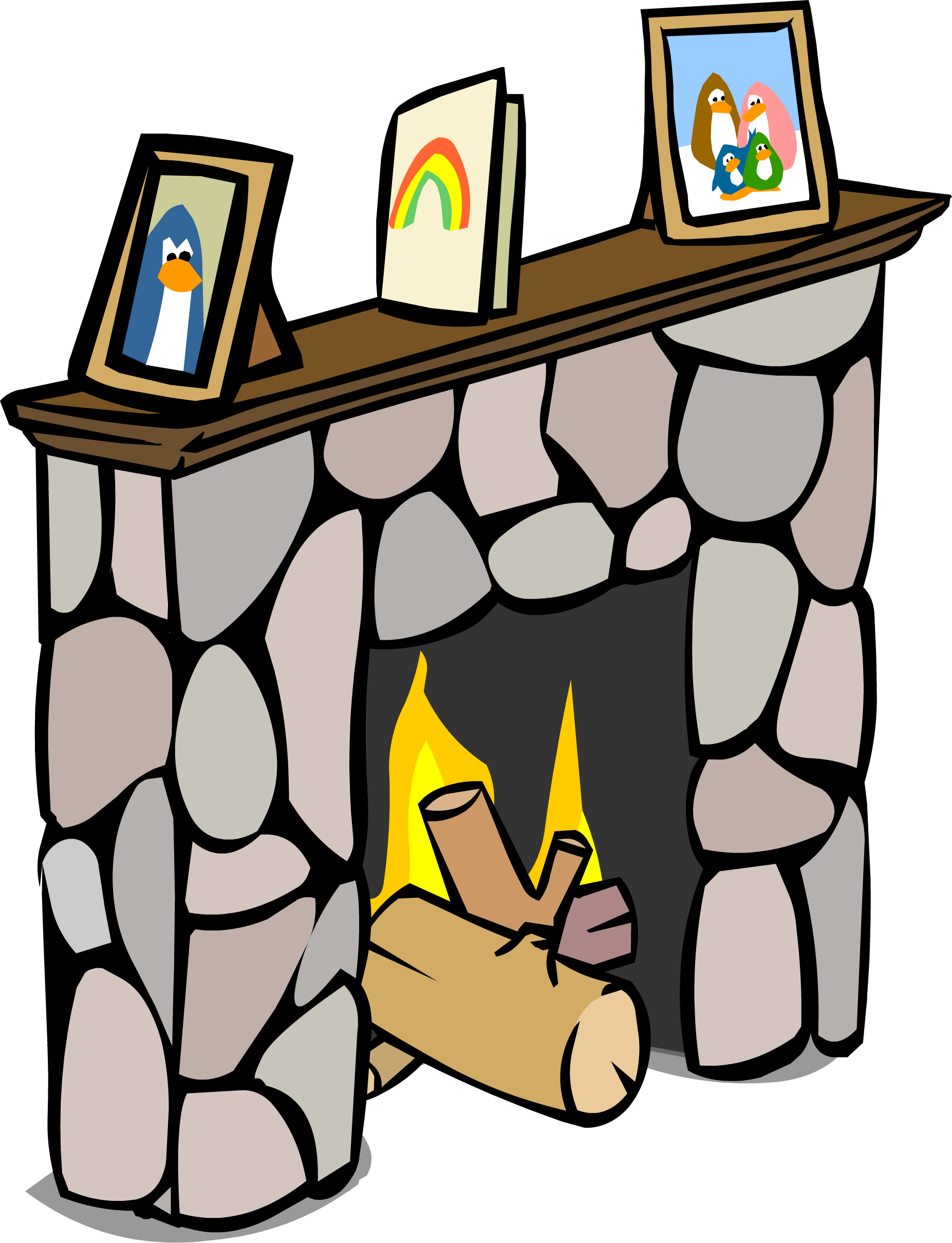 Image sprite png club. Fireplace clipart comic