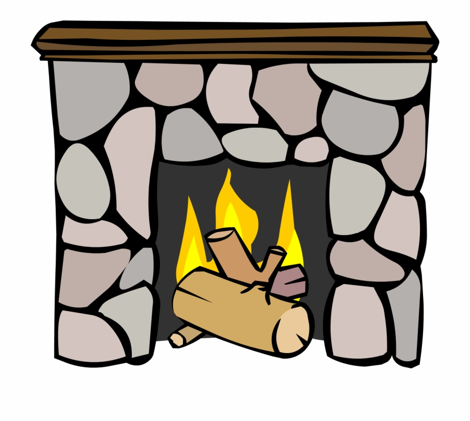Club penguin . Fireplace clipart cozy fireplace