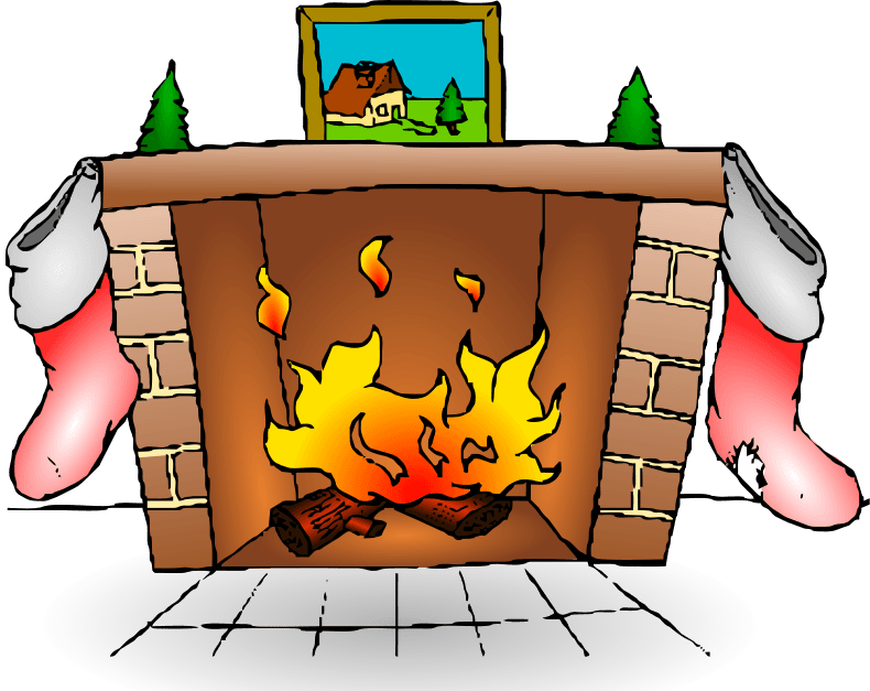 Fireplace clipart cute. Holiday cliparts zone animated