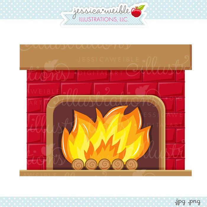 Jw illustrations christmas . Fireplace clipart cute