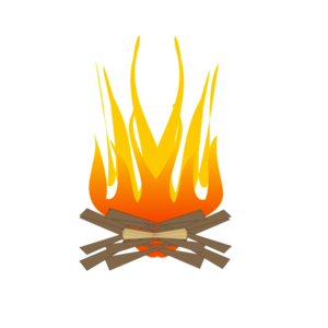 Camping fire clip art. Fireplace clipart fireplace flame