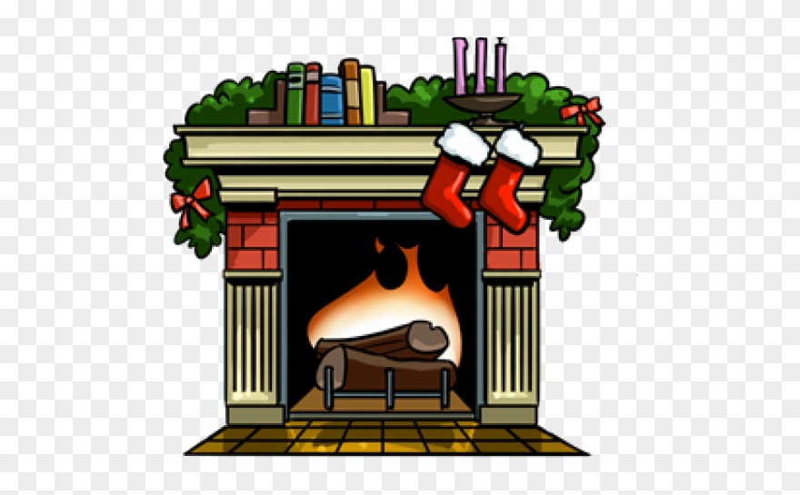 Drawing of . Fireplace clipart fireplace scene