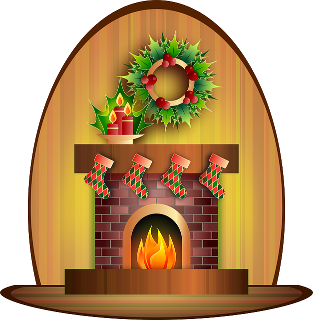 Fireplace clipart fireside. Free photo living room