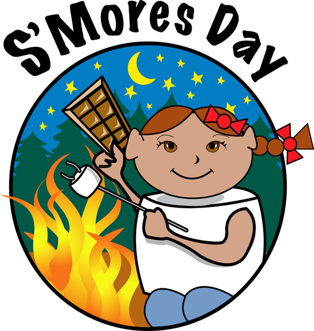Fireplace clipart fireside. Smores