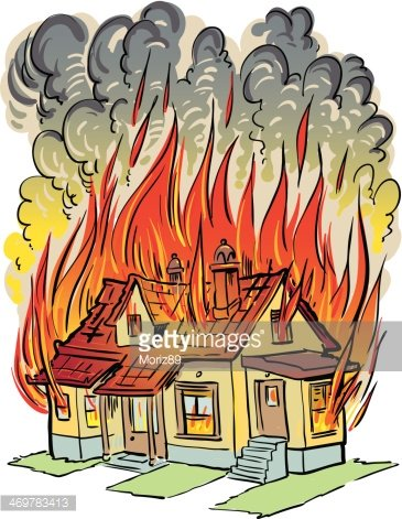 Fireplace clipart in house. On fire premium clipartlogo