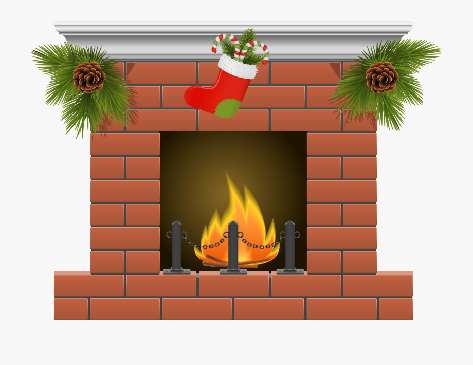Brick free . Fireplace clipart indoor