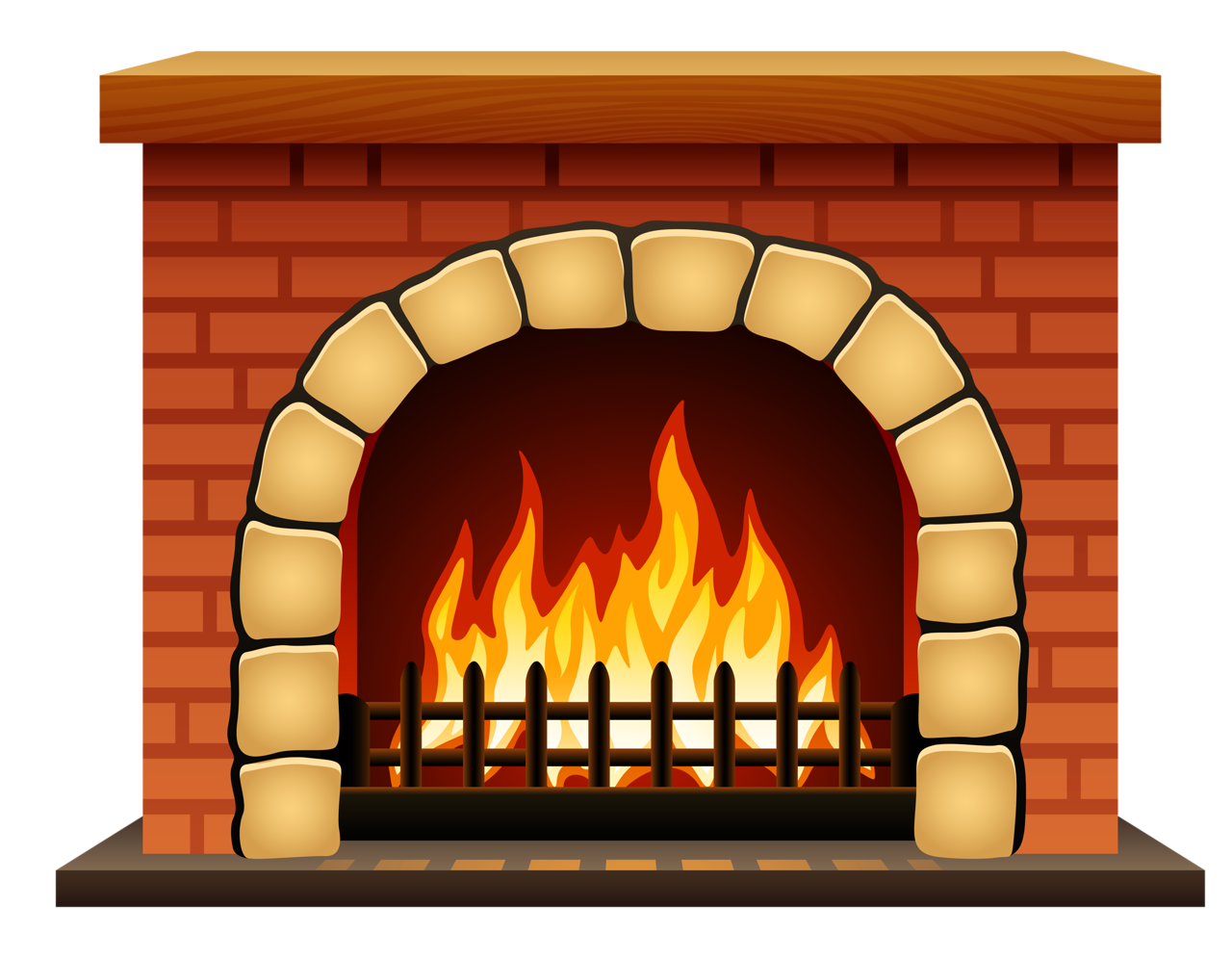 Fireplace clipart outdoor fireplace. Hearth house clip art