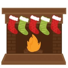 Fireplace clipart stocking clipart. Free holiday cliparts download