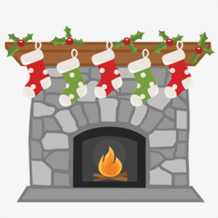 Download cartoon christmas stockings. Fireplace clipart stocking clipart