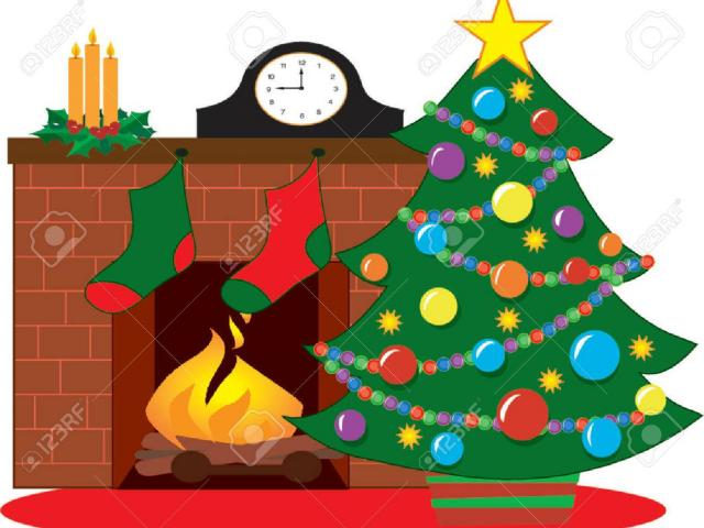 Fireplace clipart stocking drawing. Free download clip art
