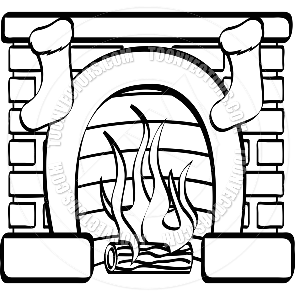 Fireplace clipart stocking drawing. Free download best on